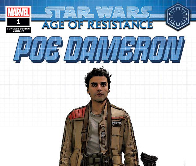 STAR WARS: AGE OF RESISTANCE - POE DAMERON 1 CONCEPT VARIANT #1