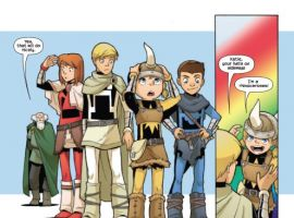 THOR AND THE WARRIORS FOUR #2 preview art by Gurihiru