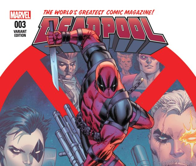Deadpool (2015) #3 variant cover by Rob Liefeld