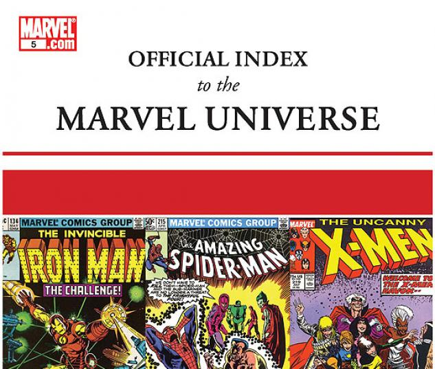 OFFICIAL INDEX TO THE MARVEL UNIVERSE #5