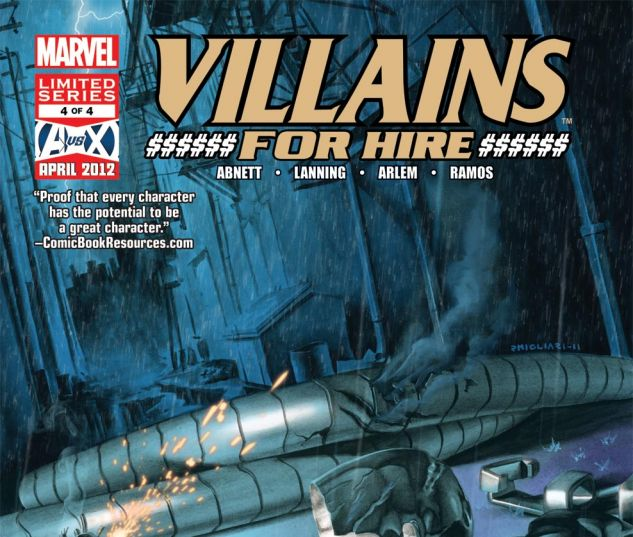 VILLAINS FOR HIRE (2011) #4 Cover