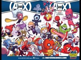 Avengers Vs. X-Men #1 Midtown Comics variant cover by Skottie Young