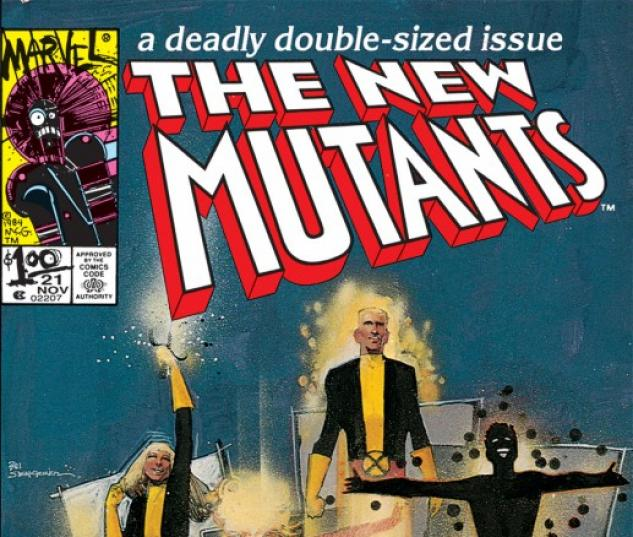 NEW MUTANTS #21 cover by Bill Sienkiewicz