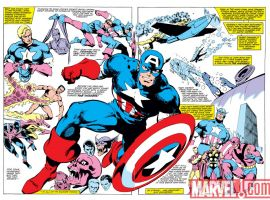 Image Featuring Thor, Wasp, Sub-Mariner, Spitfire, Human Torch (Jim Hammond), Union Jack (Montgomery Falsworth), Invaders, Avengers, Hank Pym, Captain America, Iron Man