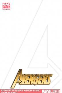 Avengers (2010) #1 (I AM AN AVENGER BLANK COVER VARIANT)