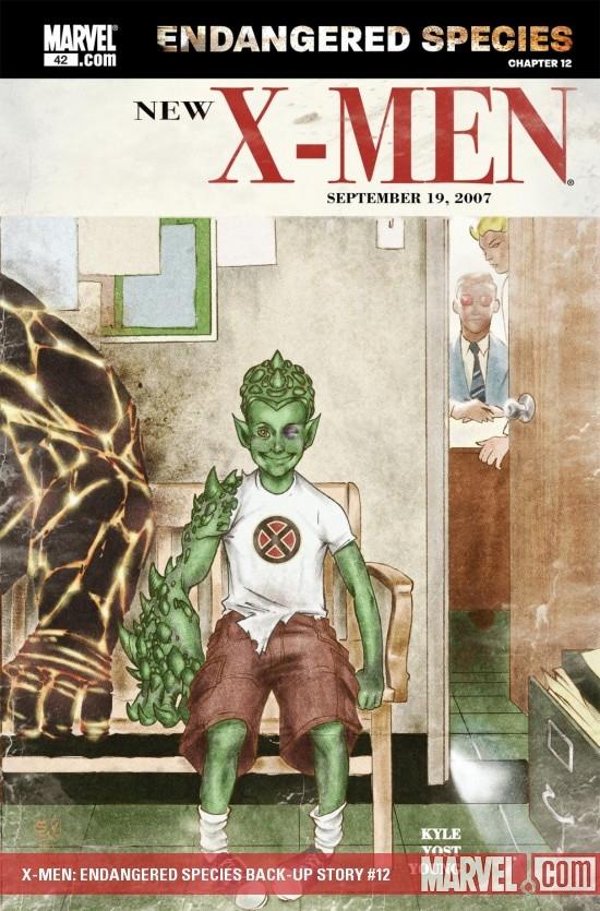 X-Men: Endangered Species Back-Up Story (2007) #12