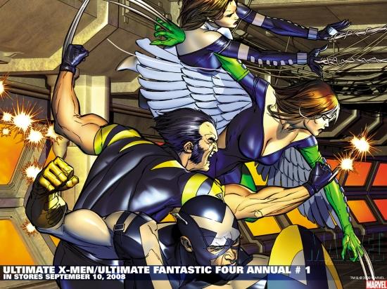 Ultimate X-Men/Ultimate Fantastic Four Annual (2008) #1 Wallpaper