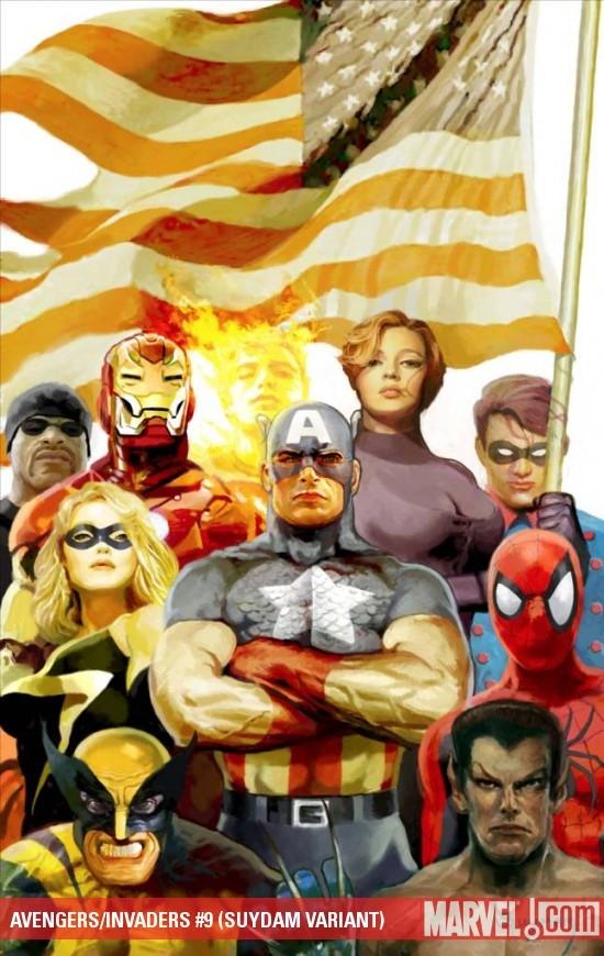 Avengers/Invaders (2008) #9 (SUYDAM VARIANT)