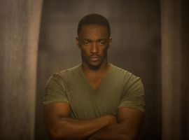 Anthony Mackie stars as the Falcon in Marvel's Captain America: The Winter Soldier