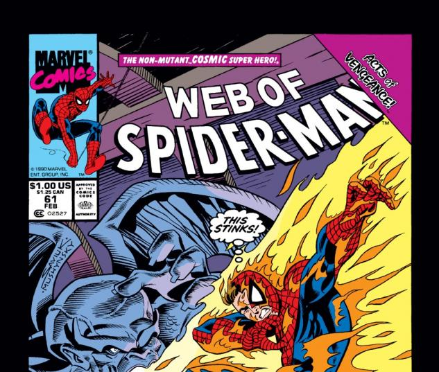 Web of Spider-Man (1985) #61 Cover
