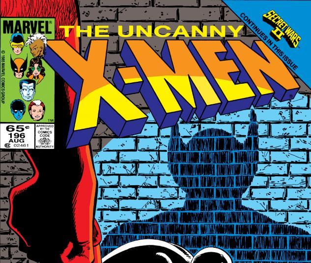 Uncanny X-Men (1963) #196 Cover