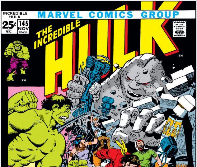 Incredible Hulk (1962) #145 Cover