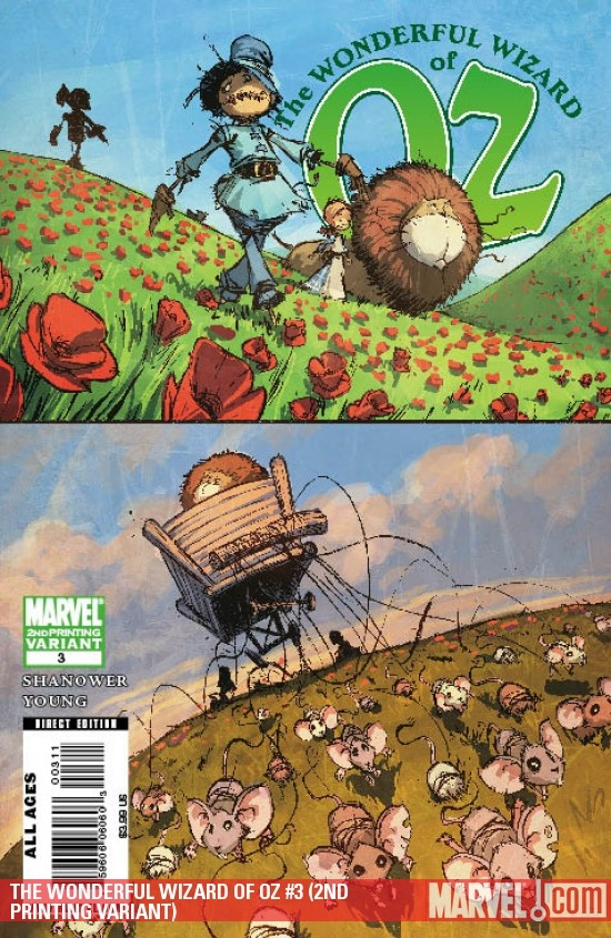 The Wonderful Wizard of Oz (2008) #3 (2nd Printing Variant)