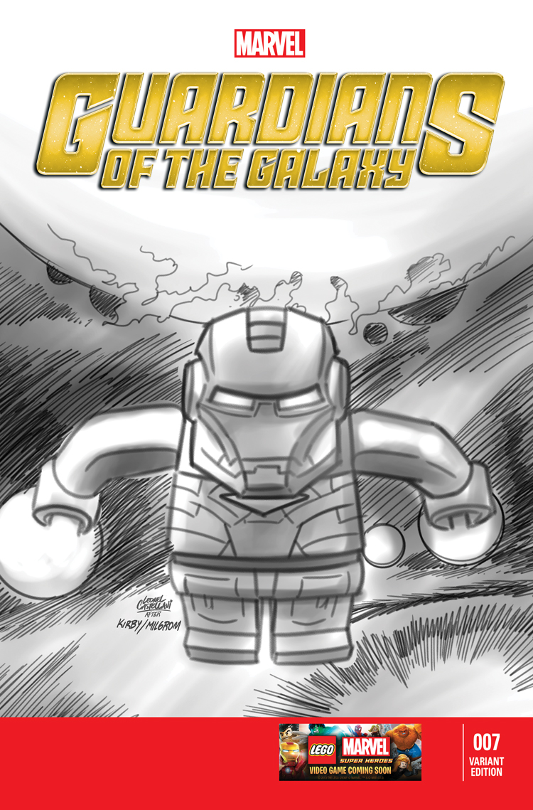 Guardians of the Galaxy (2013) #7 (Castellani Lego Sketch Variant)
