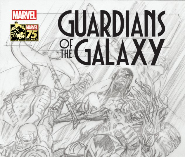 GUARDIANS OF THE GALAXY 18 ROSS 75TH ANNIVERSARY SKETCH VARIANT (SIN, WITH DIGITAL CODE)