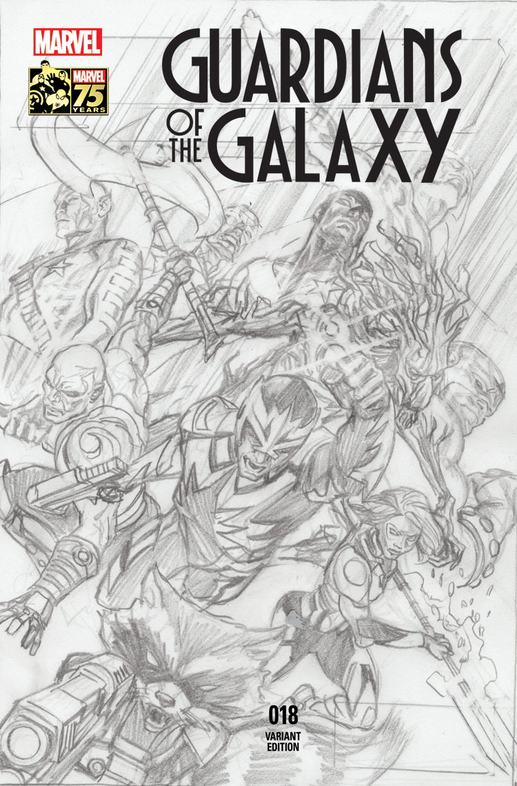 Guardians of the Galaxy (2013) #18 (Ross 75th Anniversary Sketch Variant)