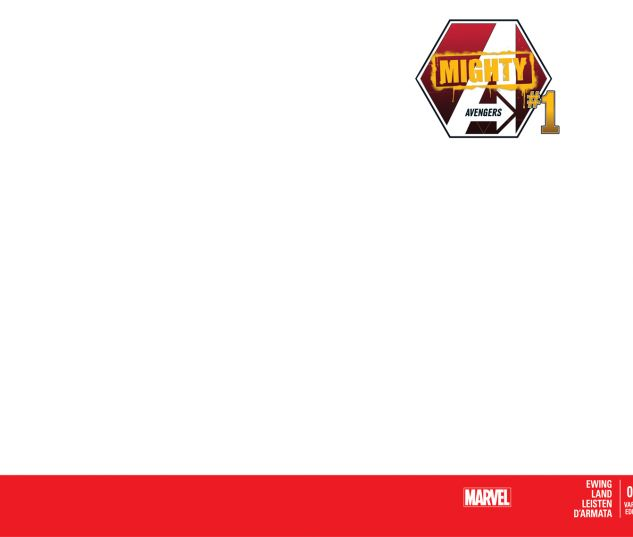 MIGHTY AVENGERS 1 BLANK COVER VARIANT (INF, WITH DIGITAL CODE, INTERIORS ONLY)