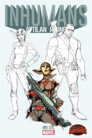 Inhumans: Attilan Rising #3  (Johnson Design Variant)
