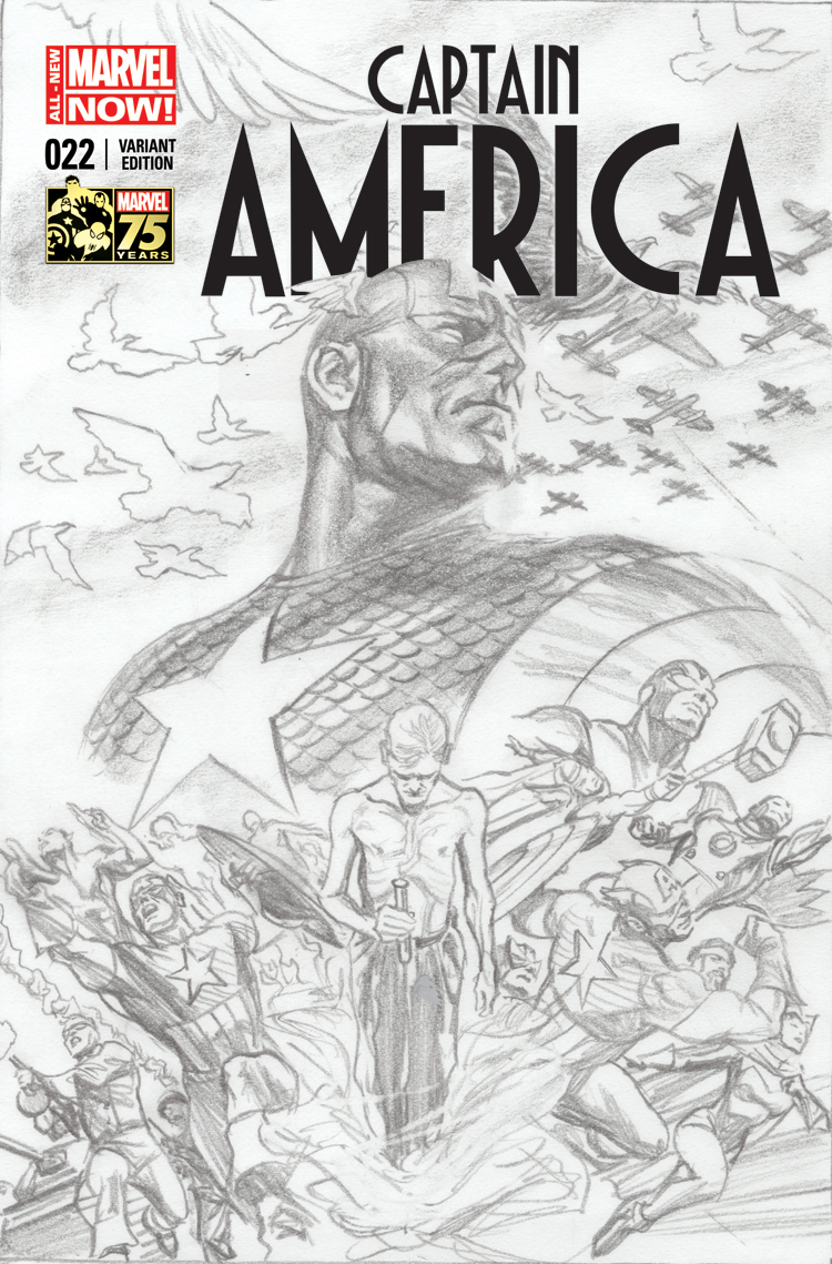 Captain America (2012) #22 (Ross 75th Anniversary Sketch Variant)
