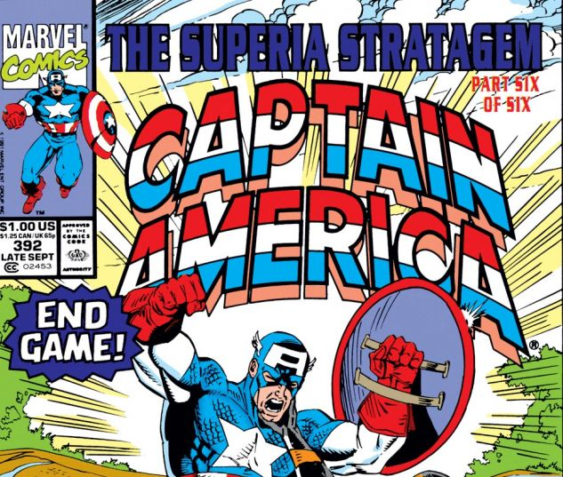 Captain America (1968) #392 Cover