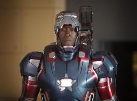 Don Cheadle stars as Rhodey/Iron Patriot in Marvel's Iron Man 3