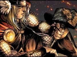 Thor and a broken Mjolnir