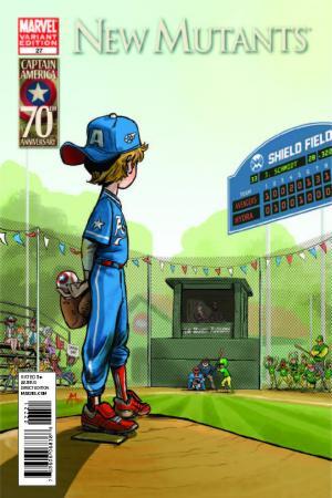 New Mutants (2009) #27 (I Am Captain America Variant)