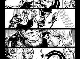 Venom (2011) #15 inked preview art by Lan Medina