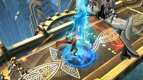 Thor calls down the lightning in Thor: The Dark World - The Official Game