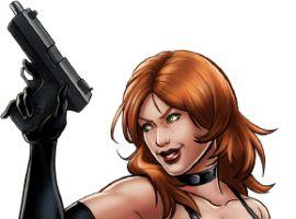 Sin character model from Marvel: Avengers Alliance