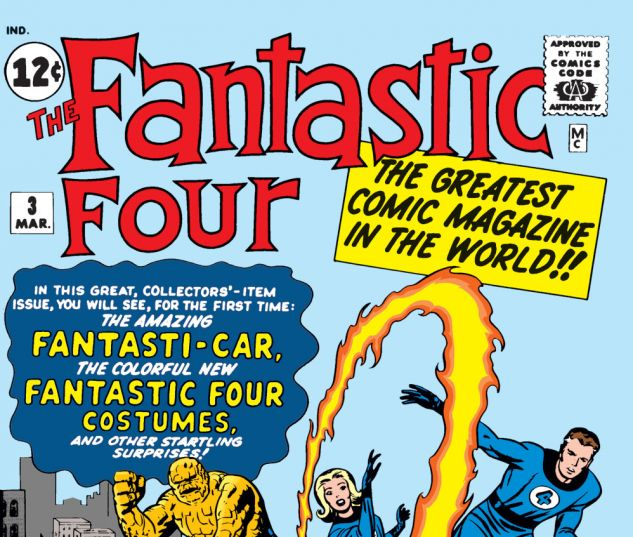Fantastic Four (1961) #3 Cover