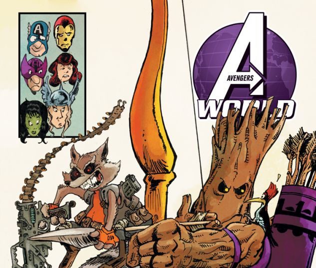 AVENGERS WORLD 15 ARAGONES RR&G VARIANT (AX, WITH DIGITAL CODE)