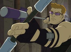 Hawkeye lines up his shot in Marvel's Avengers Assemble