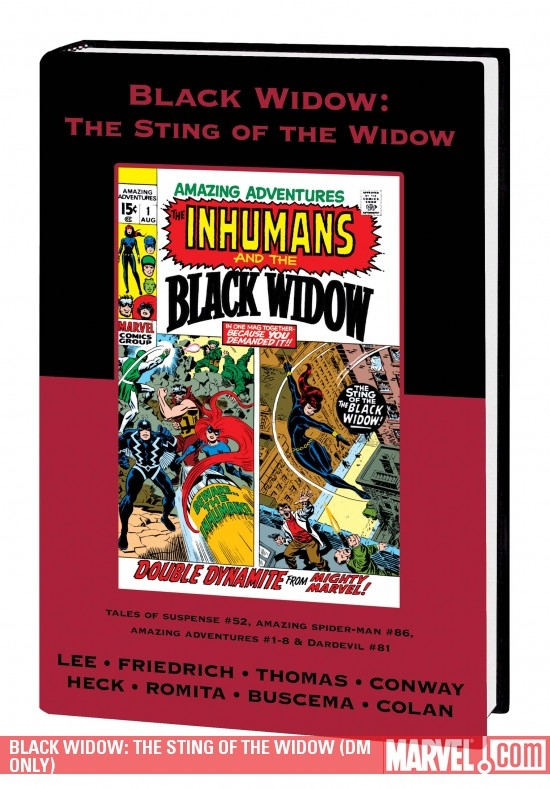 Black Widow: The Sting of the Widow (DM Only) (Hardcover)
