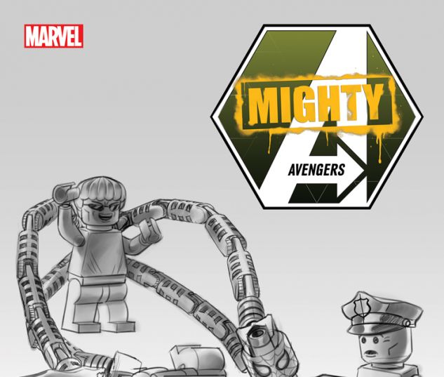 MIGHTY AVENGERS 1 CASTELLANI LEGO SKETCH VARIANT (INF, WITH DIGITAL CODE)