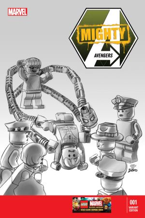 Mighty Avengers (2013) #1 (Castellani Lego Sketch Variant)