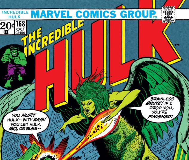Incredible Hulk (1962) #168 Cover