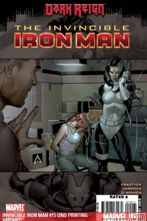 Invincible Iron Man (2008) #15 (2ND PRINTING VARIANT)