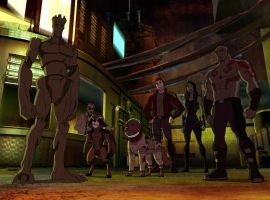 The Guardians stick together in 'Marvel's Guardians of the Galaxy'