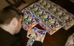 Jonathan Hickman signing Fantastic Four #587