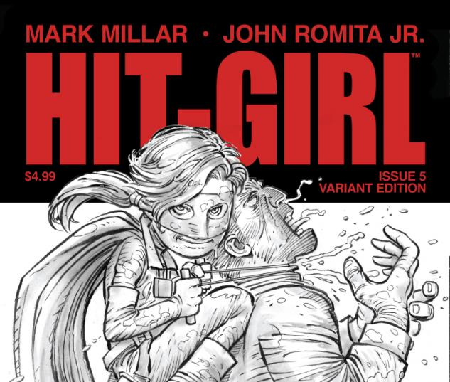 Cover: Hit-Girl (2012) #5 (Romita Sketch Variant Cover Edition)