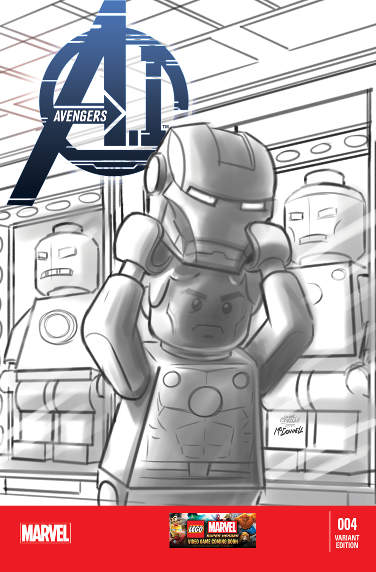 Avengers A.I. (2013) #4 (Castellani Lego Sketch Variant)