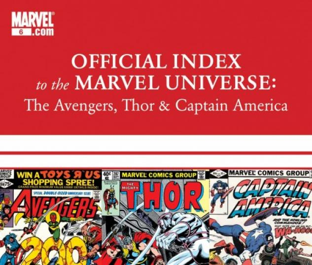 Avengers, Thor & Captain America: Official Index to the Marvel Universe (2010) #6