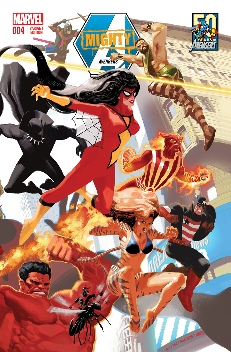 Mighty Avengers (2013) #4 (Acuna Avengers 50th Anniversary Variant)