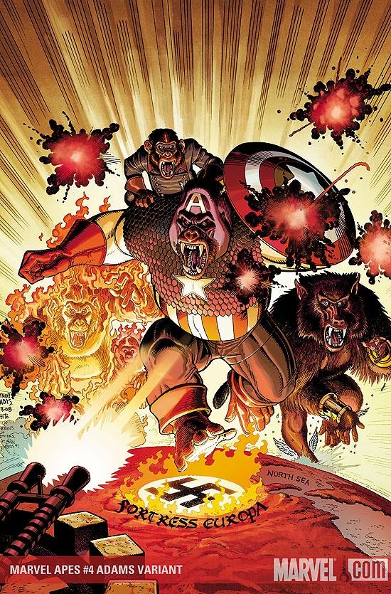 Marvel Apes (2008) #4 (ADAMS VARIANT)