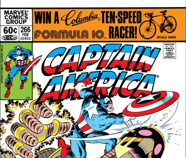 Captain America (1968) #266 Cover