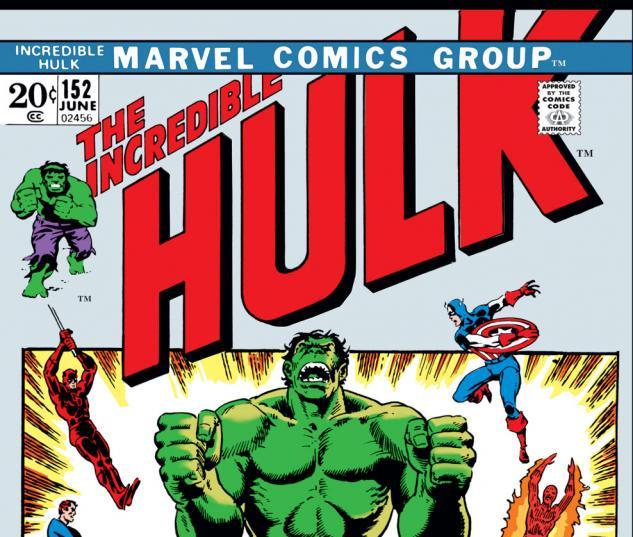 Incredible Hulk (1962) #152 Cover