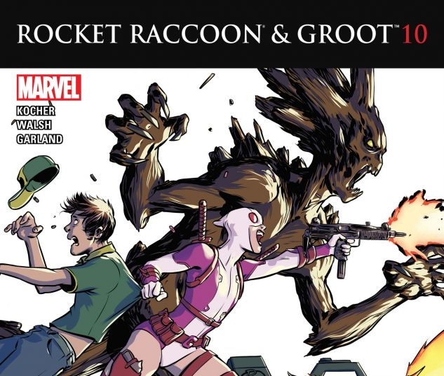 cover from Rocket Raccoon & Groot (2015) #10