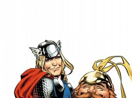 Thor: The Mighty Avenger #4 cover by Chris Samnee