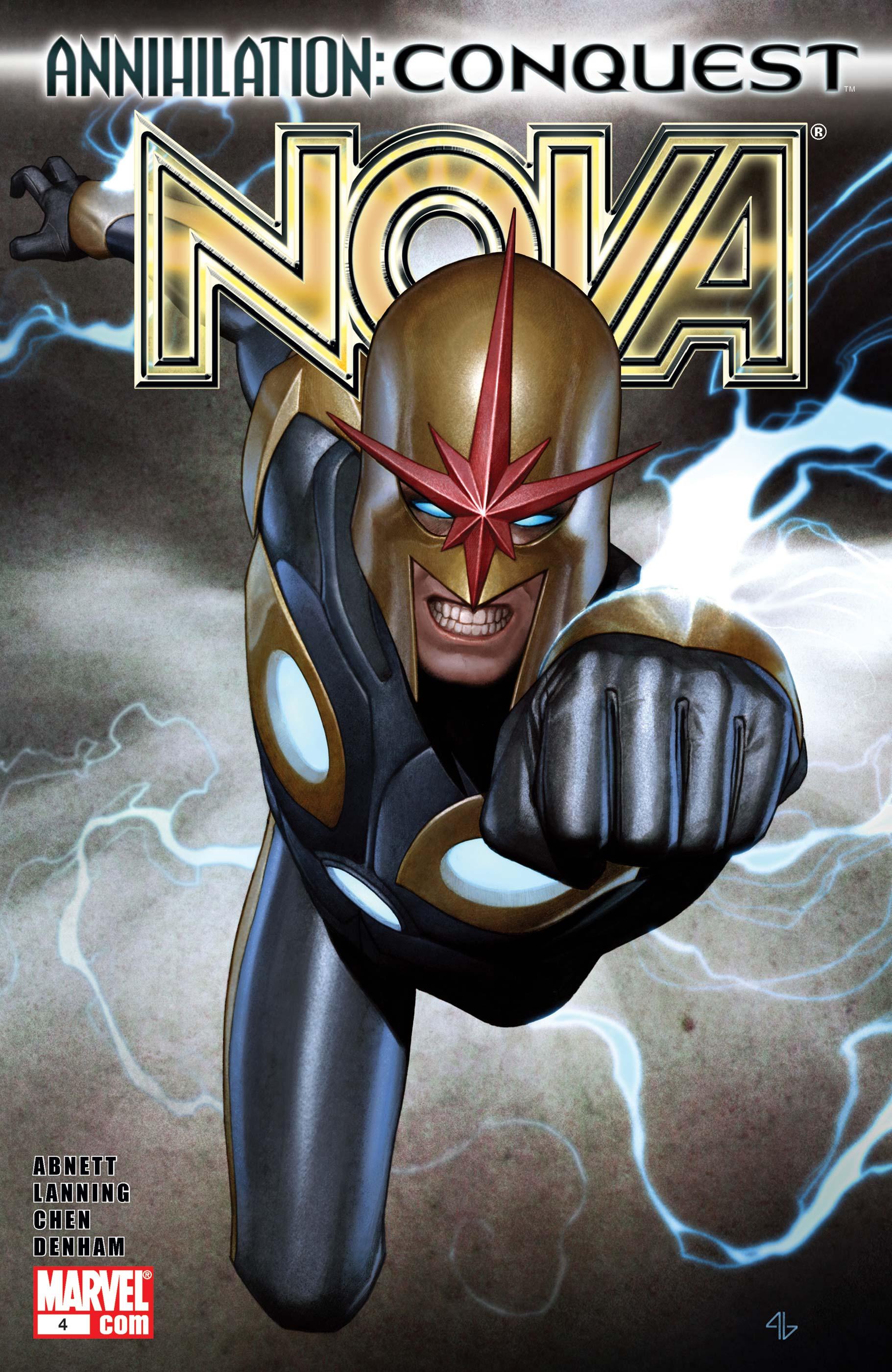 Nova #5 October 2007 Marvel Comics Abnett Lanning Chen Denham